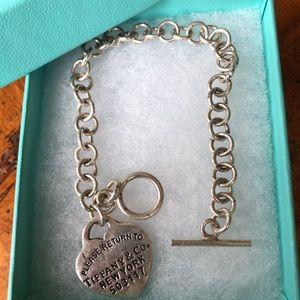 Authentic Tiffany & Co. Heart Tag Toggle Bracelet